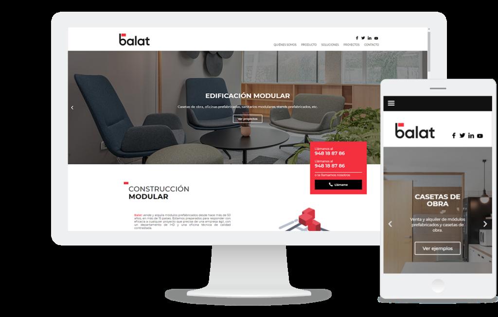 Web de Balat: construcción modular