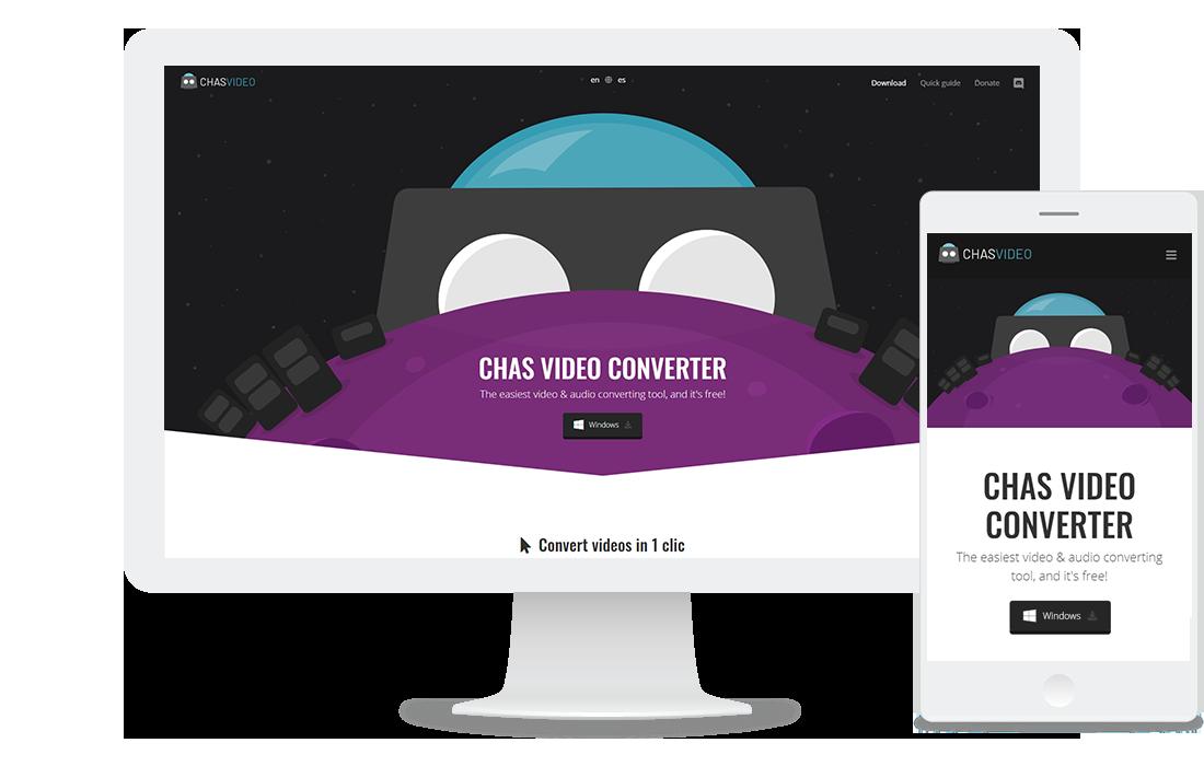 Página web de Chas Video Converter