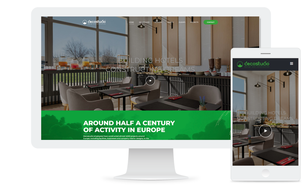 Página web de Decostudio: diseño de interiores