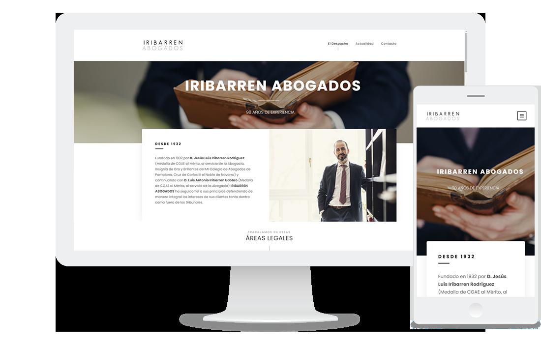Página web de Iribarren abogados