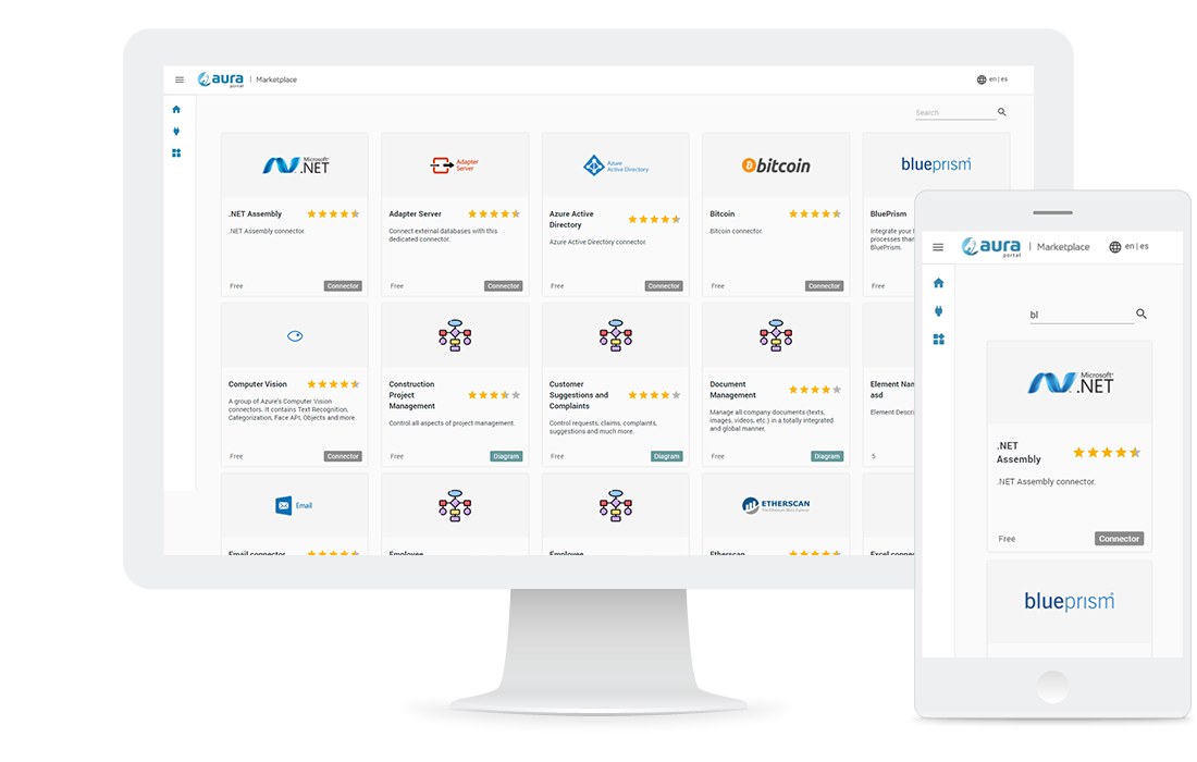 Aplicación web de tipo repositorio de aplicaciones y conectores