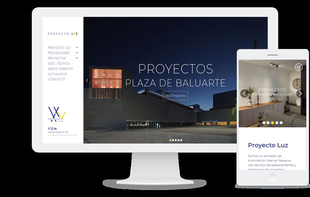 Web de Proyecto luz: proyectos de iluminación