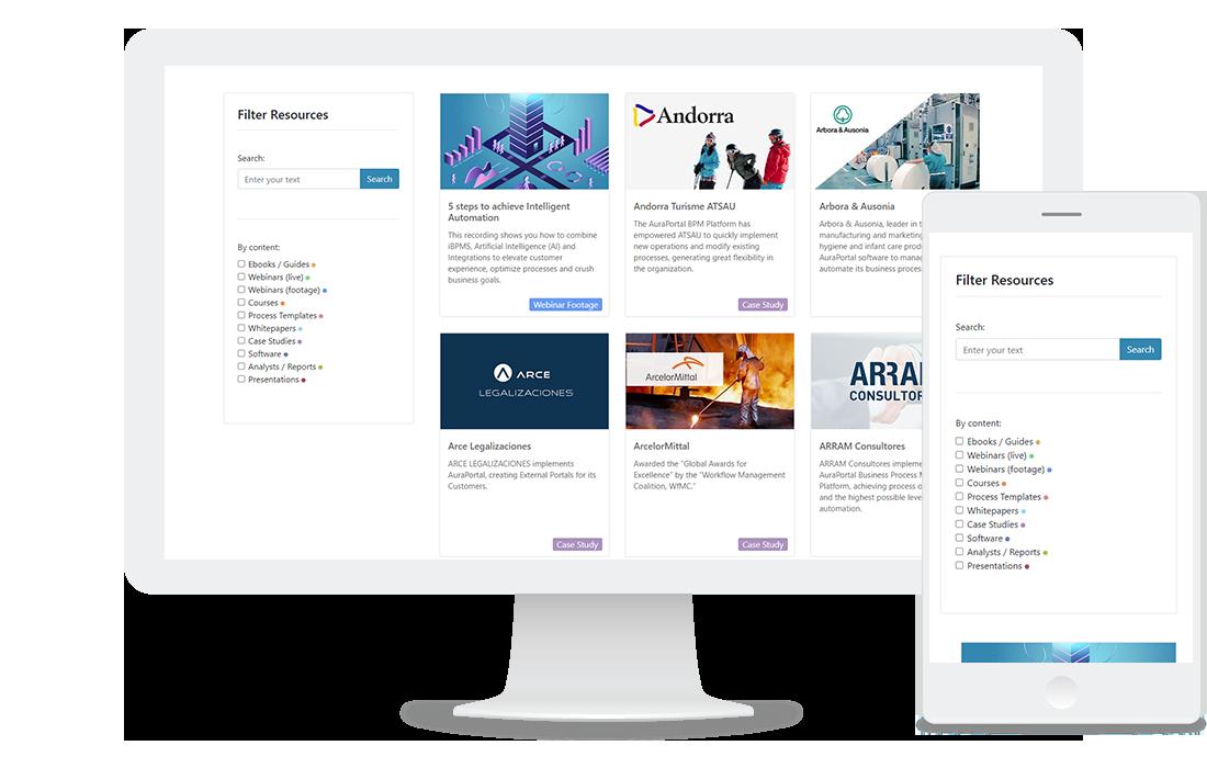 Aplicación web de tipo repositorio de recursos de marketing (cliente de recursos de mkt)