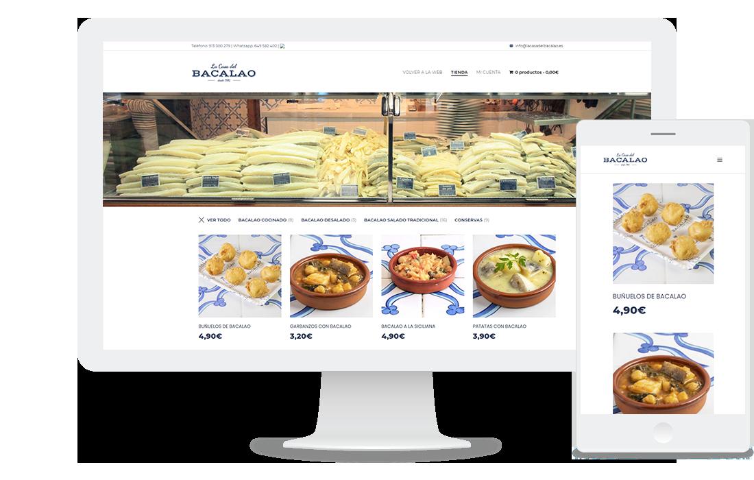 Página web: La Casa del Bacalao (tienda online)